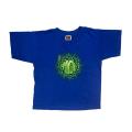 【 KIDS SPECKLED LOGO ON BLUE TEE 】スペックルド ロゴ オン ブルー Tシャツ
