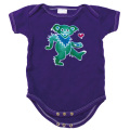 BEAR & HEART BATIK SHORT SLEEVE ROMPER BABY KID'S JUMP SUIT