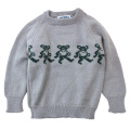 GD BEAR WOOL KIDS SWEATER GY