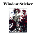 WOODCUT WINDOW STICKER