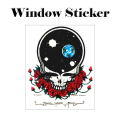 SPACE FACE WINDOW STICKER