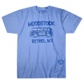 【 Bethel Bus Blue Poly-Cotton T-Shirt 】【 S Size 】