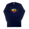 【 PHISH RAINBOW LOGO ON BLUE LONG SLEEVE 】レインボー ロゴ オン ブルー