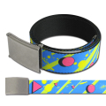 80S PARTY BL/YE/PK  WEBBING BELT