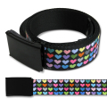MINI HEARTS BK/MULTI WEBBING BELT