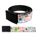 SPLATTER WH/MULTI WEBBING BELT
