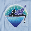 WINGED CAT YOUTH BLUE T-SHIRTS