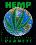 HEMP CAN SAVE THE PLANET STICKER