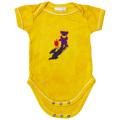 TERRAPIN & BEAR TIE-DYE SHORT SLEEVE ROMPER YELLOW BABY KID'S JUMP SUIT