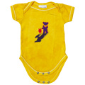 TERRAPIN & BEAR TIE-DYE SHORT SLEEVE ROMPER YELLOW BABY KID'S JUMP SUIT