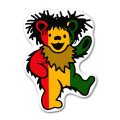 RASTA BEAR STICKER