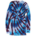 TIE-DYE THERMAL SPIRAL PURPLE LONG SLEEVE T-SHIRTS