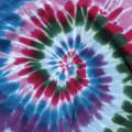 CRANBERRY SPIRAL TIE-DYE T-SHIRTS