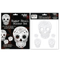 SUNNY BUICK WHITE SUGAR SKULL STICKER SET