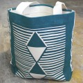 DESIGN WEST 4 TRIANGLES TOTE BAG GR