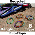 RECYCLED PLASTIC BANGLE / FLIP-FLOPS