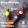 RECYCLED PLASTIC RING / FLIP-FLOPS