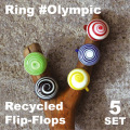 RECYCLED PLASTIC RING OLIMPIC / FLIP-FLOPS