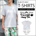 HARVEST HEMP TEE SLIM FIT T-SHIRTS/GRAY