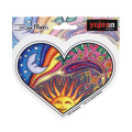 DAN MORRIS DAY & NIGHT HEART STICKER