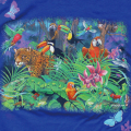 LOOK & TOUCH ADULT TROPICAL RAINFOREST T-SHIRTS