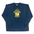 【 SCARF COW ON PACIFIC BLUE KIDS LONG SLEEVE 】スカーフ カウ オンパシフィックブルー