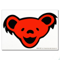 GD BEAR HEAD STICKER RED
