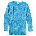 TIE-DYE THERMAL LIGHT BLUE LONG SLEEVE T-SHIRTS