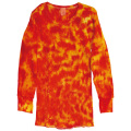 TIE-DYE THERMAL CRINKLE ORANGE & RED LONG SLEEVE T-SHIRTS
