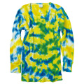 TIE-DYE THERMAL YELLOW & BLUE LONG SLEEVE T-SHIRTS