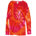 TIE-DYE THERMAL SPIRAL PINK LONG SLEEVE T-SHIRTS