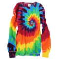 TIE-DYE THERMAL RAINBOW LONG SLEEVE T-SHIRTS