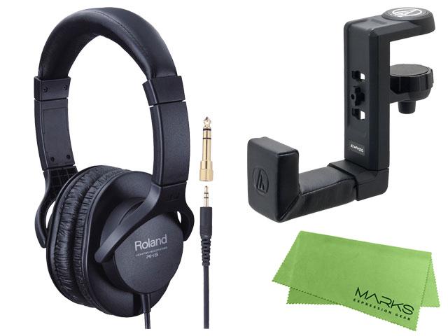 【即納可能】Roland RH-5 + audio-technica AT-HPH300 + マークスオリジナルクロス セット(新品)【送料無料】
