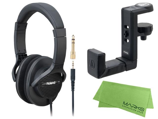 【即納可能】Roland RH-A7 + audio-technica AT-HPH300 + マークスオリジナルクロス セット(新品)【送料無料】