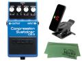 【即納可能】BOSS Compression Sustainer CS-3 + KORG Pitchclip 2 PC-2 + マークスオリジナルクロス セット(新品)【送料無料】