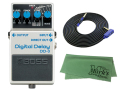 【即納可能】BOSS Digital Delay DD-3 + 3m ギターケーブル VOX VGS-30 セット[マークス・オリジナルクロス付](新品)【送料無料】