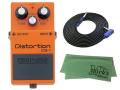 【即納可能】BOSS Distortion DS-1 + 3m ギターケーブル VOX VGS-30 セット[マークス・オリジナルクロス付](新品)【送料無料】
