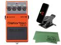 【即納可能】BOSS Distortion DS-1X + KORG Pitchclip 2 PC-2 + マークスオリジナルクロス セット(新品)【送料無料】