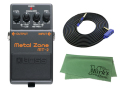 【即納可能】BOSS Metal Zone MT-2 + 3m ギターケーブル VOX VGS-30 セット[マークス・オリジナルクロス付](新品)【送料無料】