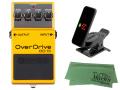 【即納可能】BOSS Overdrive OD-1X + KORG Pitchclip 2 PC-2 + マークスオリジナルクロス セット(新品)【送料無料】