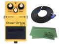 【即納可能】BOSS OverDrive OD-3 + 3m ギターケーブル VOX VGS-30 セット[マークス・オリジナルクロス付](新品)【送料無料】