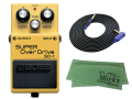 【即納可能】BOSS SUPER OverDrive SD-1 + 3m ギターケーブル VOX VGS-30 セット[マークス・オリジナルクロス付](新品)【送料無料】