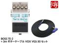 【即納可能】BOSS Tera Echo TE-2 + 3m ギターケーブル VOX VGS-30 セット(新品)【送料無料】