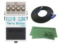 【即納可能】BOSS Tera Echo TE-2 + 3m ギターケーブル VOX VGS-30 セット[マークス・オリジナルクロス付](新品)【送料無料】