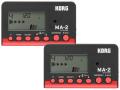 【まとめ買い】KORG MA-2 ブラック&レッド MA-2-BKRD 2個セット(新品)【送料無料】【ゆうパケット利用】
