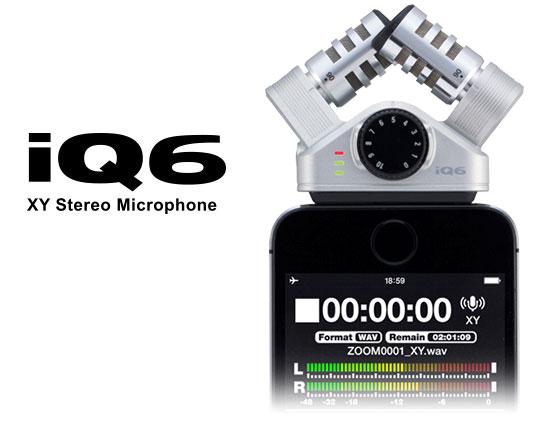 【即納可能】ZOOM XY ステレオマイクロフォン iQ6(新品)【送料無料】