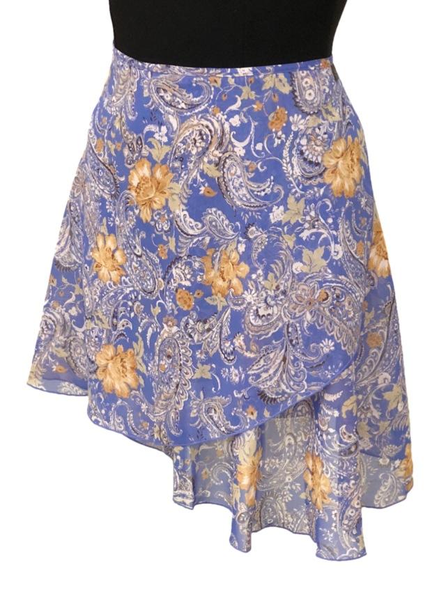巻きスカート プリント柄 ペイズリー