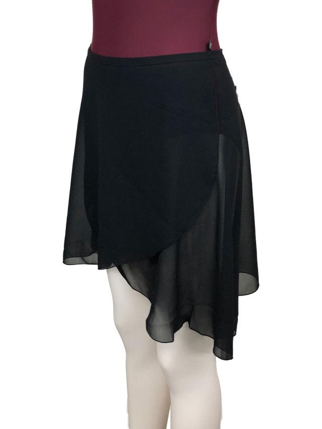 バレエウェア・巻きスカート ブラック・1