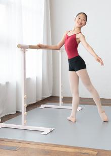 バレエ教室・ダンススタジオ用品・一人用 高さ切替式バースタンドセット バニラ 1.5m 塗装品(45mm)・1