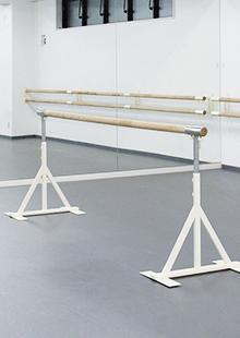 バレエバー・教室・スタジオ用品・切替式スタンドセット 3m(直径60mm)・1